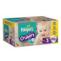 $34.75 Pampers Cruisers Diapers Size 3 Count 186