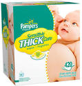 $13.99 Pampers Thick Sensitive Wipes 420-Count