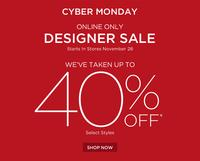 Up to 40% OFF Saks Fifth Avenue Cyber Monday Sale