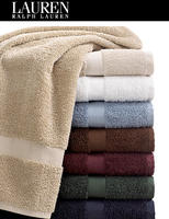 "$5.99 Lauren Ralph Lauren Towels, Basic Collection,  27"" x 52"""