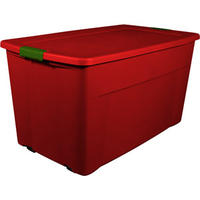 $60 Sterilite 45-Gallon Wheeled Latch Tote, Really Red, Set of 4 @Walmart