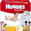 Huggies Snug & Dry Diapers (Size: 2-6)  at Costco