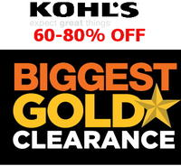 60% to 80% off  Kohl's Gold Star Clearance Sale + extra 15% to 20% off via coupon codes