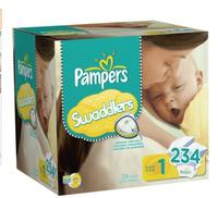 $35.59 Pampers Swaddlers Diapers (size:N-3)