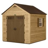 Suncast 8 ft. x 8 ft. Cedar and Resin Hybrid Storage Shed @Home Depot