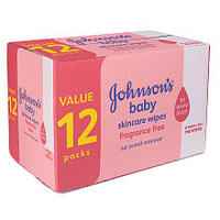 $12 Johnson's Baby Skincare Wipes - 768CT