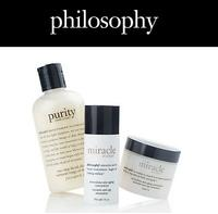 25% OFF with order over $50  @ philosophy