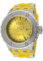  Invicta Men's Subaqua/Reserve GMT Yellow Dial Yellow Polyurethane