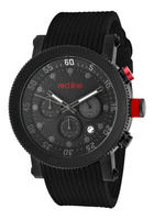 $59.99 Red Line Men's Compressor Chronograph Black Dial w/Grey Accents Black Silicone