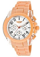 I by Invicta Men's Chronograph White Dial Salmon Polyurethane