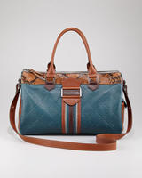 $425  Longchamp Patchwork Satchel Bag
