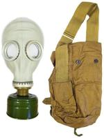 $13.49 Soviet Russian Civilian Gas Mask Model Russian GP-5 w/ Cloth Shoulder Bag (Haversack), NBC Filter (No Expiration)