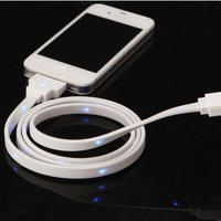 $9.99 MOKIS White USB Data Cable for iPhone/iPad/iPod LED Luminous