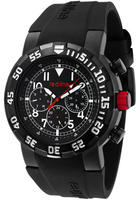 $55 Red Line Men's RPM Black Dial Black Silicone