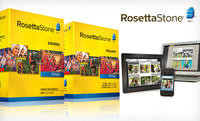 $259.99 Rosetta Stone French, Italian, or Spanish Level 1-4 Set