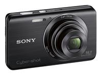Sony - DSCW650/B 16.1-Megapixel Digital Camera - Black