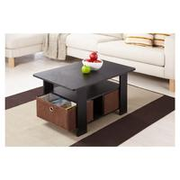 $74.69 Fresno Collection Coffee Table with Removable Fabric Storage Box