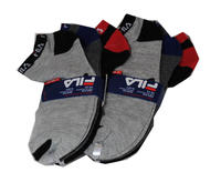 $9.99 6 Pairs of Fila Men's Low Cut Dry Fit Ankle Socks