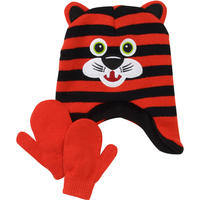 Boys' Critter Hat and Mittens Set