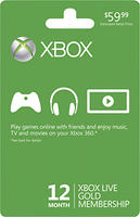 $34.99 Microsoft - Xbox LIVE 12-Month Gold Membership @Best Buy