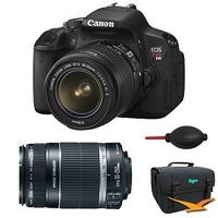 $699 Canon EOS Digital Rebel T4i 18MP SLR Camera 18-55mm & 55-250mm Bundle
