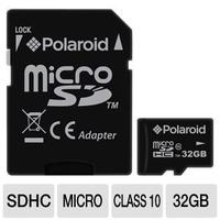 Polaroid 32 GB CL10 micro SDHC Flash Memory Cards for Tablet PCs and Smartphones