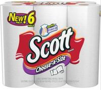 BOGO Free Scott Choose-A-Size 1-Ply Paper Towel 6-Pack