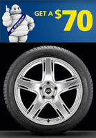 Free $70 Prepaid Mastercard with 4 Michelin tires