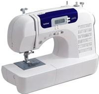 $129.97 Brother CS6000i Feature-Rich Sewing Machin with 60 Built-In Stitches, 7 styles of 1-Step Auto-Size Buttonholes, Quilting Table, and Hard Cover