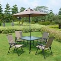 $199 Fitzpatrick 6-Piece Patio Set with Umbrella