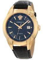  Versace Men's 25A380D008 S009 Character Automatic Rose Gold PVD Black Dial Leather Watch