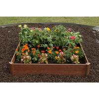 $28.97 Greenland Gardener 42 in. x 42 in. Raised Bed Garden Kit