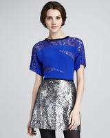  Nanette Lepore Women's Disco Lady Sequined Skirt