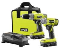 Quick View Ryobi ONE+ 18-Volt Lithium-Ion Drill and Impact Driver Combo Kit (2-Tool) + Free Shipping @Home Depot