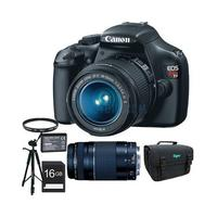Canon EOS Rebel T3 SLR Digital Camera w/2 Lense and 10 accessories
