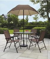 Mainstays 6-Piece Patio Dining Set w/ Umbrella