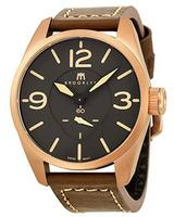 Brooklyn Watch Company Lafayette Black Dial Rose Gold-tone Swiss Quartz Mens Watch CLA-B