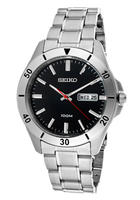 Seiko Men's Black Dial Stainless Steel