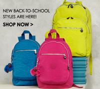 Extra 20% Off Back to School Styles  @ Kipling USA