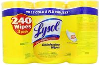 $7.47 Lysol Disinfecting Wipes 80-Count Tub 3-Pack