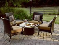 $594.99 Grand Resort Roscoe 5-Piece Firepit Chat Set