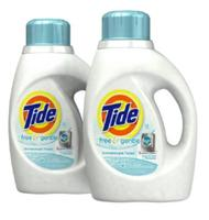 $8.37 2-Pack Tide Laundry Detergent, 50 Ounce High Efficiency, Free and Gentle Unscented