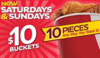$10 KFC 10-Piece Chicken Bucket