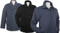 "$49.99 Alpine Swiss Wool Blend Men's ""Grant"" Bomber Jacket or ""Jake"" Pea Coat"
