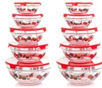$26.99 Chef Buddy 20-Piece Glass Bowl Set