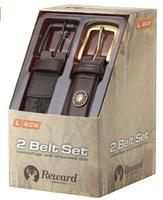 $29.99 Reward Men's Two Belts In A Box, Camo