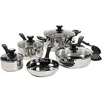 $42.49 Bella™ 11-pc. Stainless Steel Cookware Set
