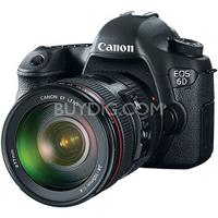 $2079  Canon EOS 6D 20.2MP DSLR Camera +24-105mm  USM f/4.0L IS AF Lens   + Adobe Photoshop Elements 11 & Premier Elements 11