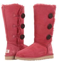 $154.99 UGG Bailey Button Triplet, Sangria