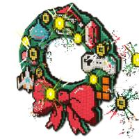$11.99 8-bit LED Holiday Wreath